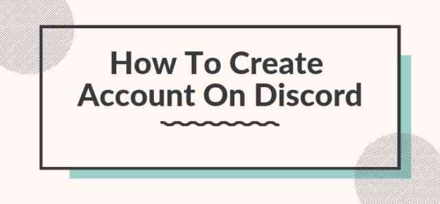 How To Create An Account?