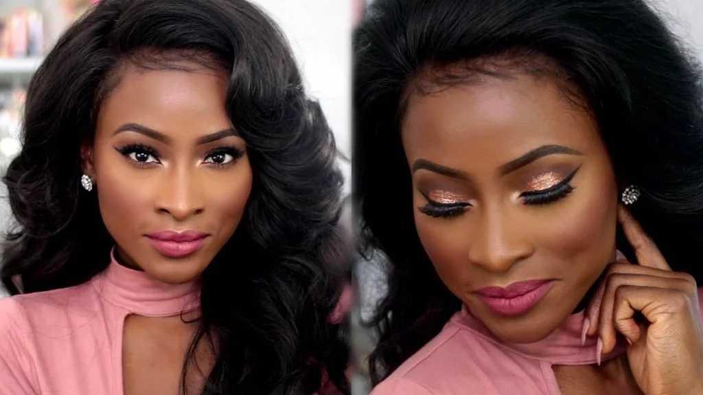 Skin care routine: applying makeup for dark skin