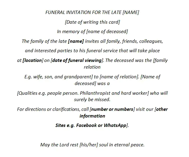 Scooper Technology News How To Write A Funeral Invitation