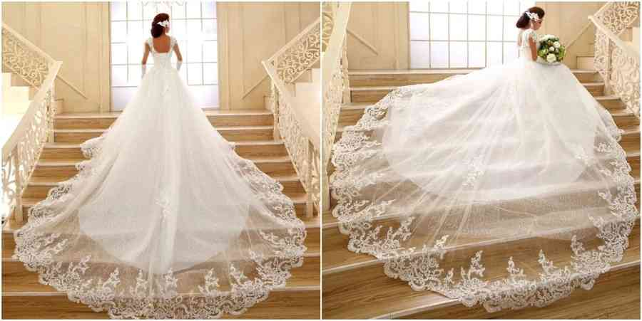 wedding dress train styles