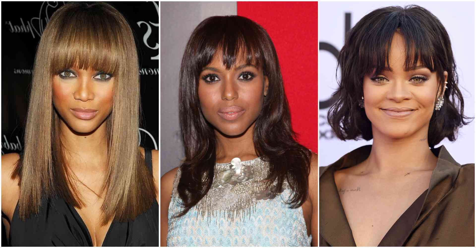 Scooper - Femininity News: Center part hairstyles with bangs