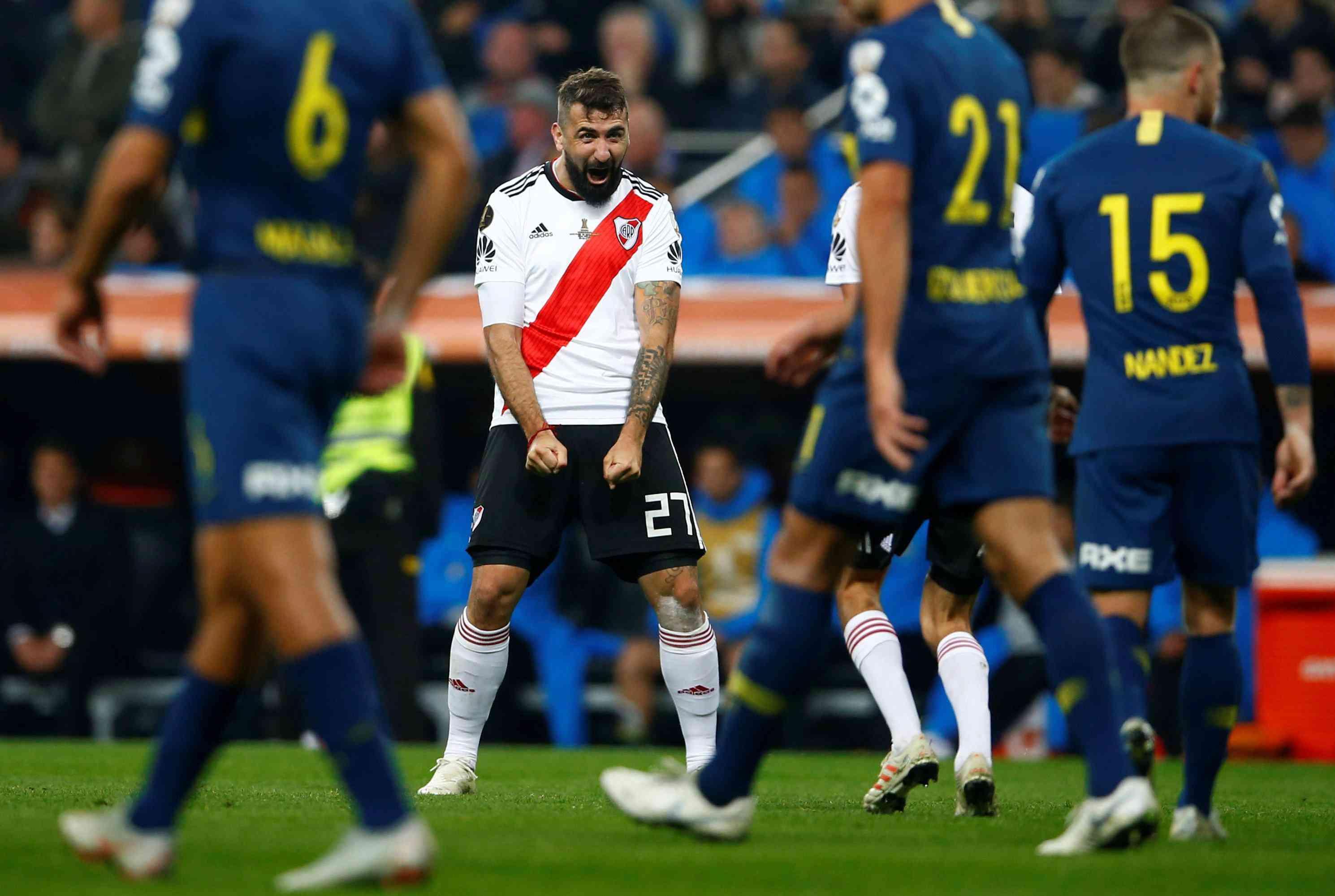 598f46f3822 Scooper - Football News  River 3 Boca 1 (Agg 5-3) Quintero scores ...
