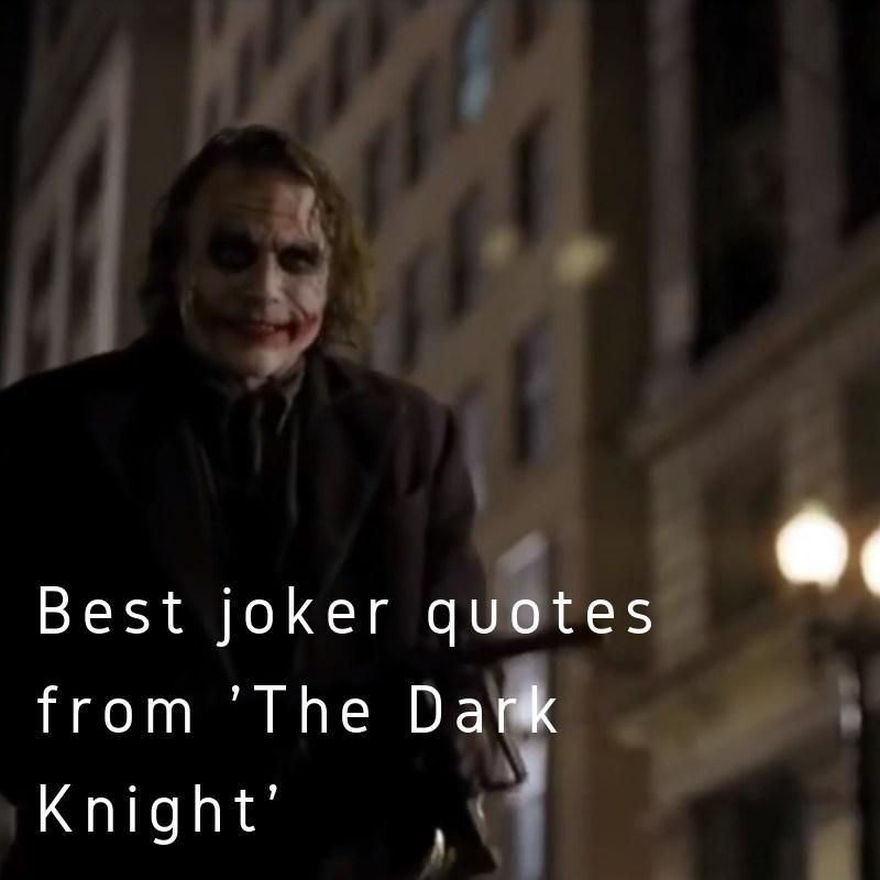 Scooper Entertainment News 15 Best Joker Quotes From The Dark
