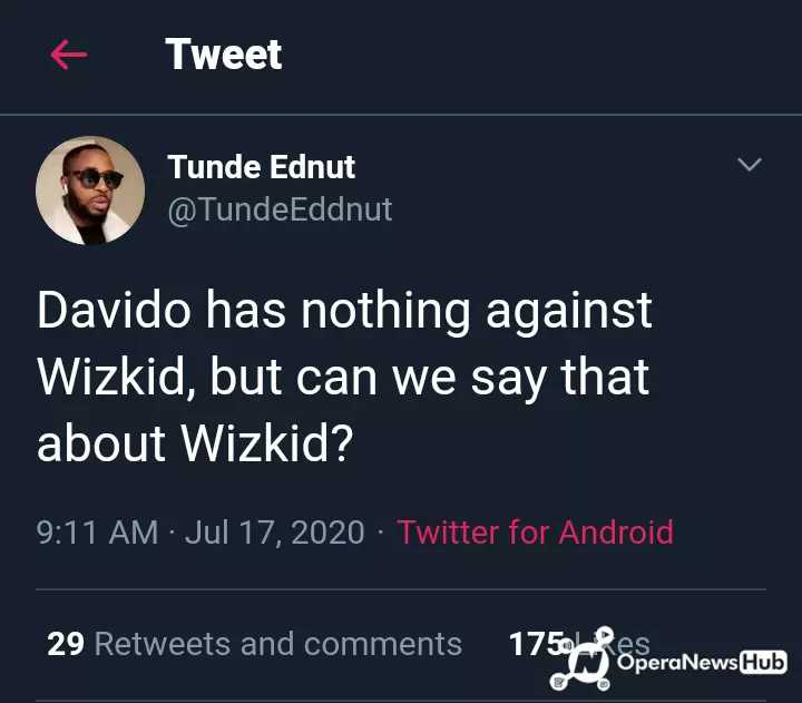 Scooper Nigeria Entertainment News See The Question Tunde Ednut Asked About Wizkid And Davido That Has Got Many Reactions Phoenix, buffalo, chicago, frankfurt am main, los angeles. scooper